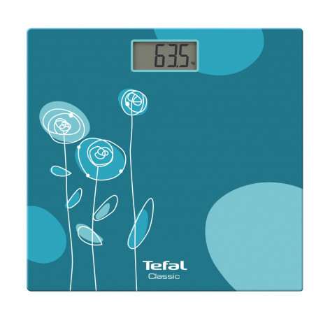 Напольные весы Tefal Classic Drawing Bloom Turquoise PP1148V0 фото 1