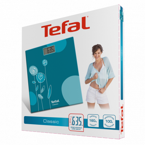 Напольные весы Tefal Classic Drawing Bloom Turquoise PP1148V0 фото 4